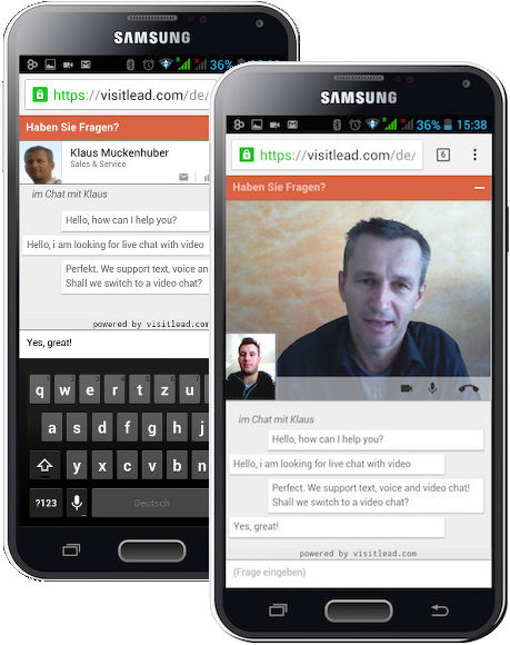 Live Chat for mobile devices