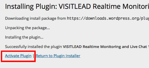 Install Wordpress Live Chat Plugin. Activate plugin